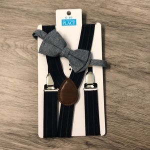 Children's Place Suspenders and Bow tie